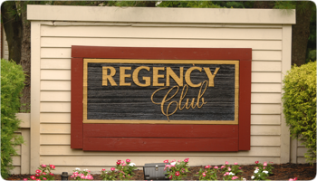photo of regency club sign